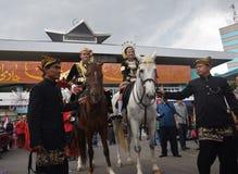 Novia de la cultura del carnaval semarangan Foto de archivo libre de regalías