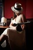 Novia de la mafia fotografía de archivo