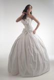 Novia de lujo en vestido del ajuste de forma Imágenes de archivo libres de regalías