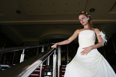 Novia del concepto de la boda en alineada Foto de archivo libre de regalías