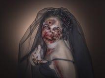 Novia del zombi fotografía de archivo