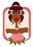 Novia dulce en marco rosado Foto de archivo