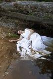 Novia en agua Fotografía de archivo