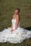 Novia en alineada de boda Imagen de archivo