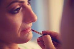 Novia en estudio del maquillaje Imagen de archivo