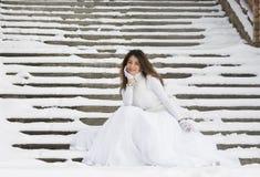Novia en invierno Fotos de archivo libres de regalías