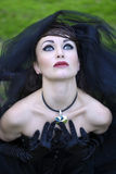 Novia en negro Fotografía de archivo
