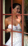 Novia en su día de boda imagen de archivo libre de regalías