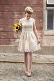 Novia en un vestido de boda Fotografía de archivo libre de regalías