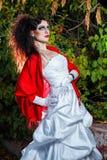 Novia en vestido de boda Imágenes de archivo libres de regalías