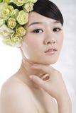 Novia hermosa con maquillaje natural perfecto Imágenes de archivo libres de regalías