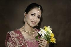 Novia india hermosa fotos de archivo libres de regalías