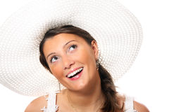 Novia joven en un sombrero Foto de archivo libre de regalías