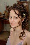 Novia, mañana antes de la ceremonia Foto de archivo