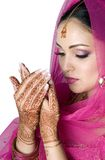 Novia musulmán en rezo Imagen de archivo libre de regalías