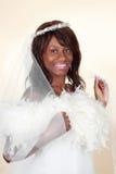 Novia negra hermosa Fotografía de archivo libre de regalías