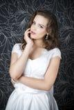 Novia profesional del peinado del maquillaje Foto de archivo libre de regalías