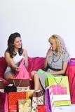 Novia que discute hacer compras Imagen de archivo libre de regalías