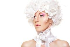 Novia romántica del cuento de hadas. Maquillaje apacible Wedding Imagen de archivo libre de regalías