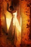 Novia rubia de Grunge Foto de archivo