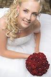 Novia rubia hermosa Foto de archivo libre de regalías
