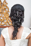 Novia tailandesa asiática con estilo de pelo hermoso Fotos de archivo