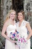 Novia y Bridemaid Foto de archivo libre de regalías