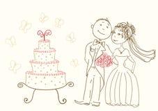 Novia y novio libre illustration