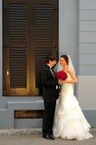 Novia y novio Foto de archivo libre de regalías
