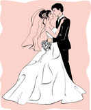 Novia y novio libre illustration