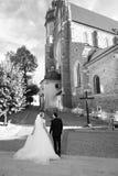Novia y novio antes de la boda Imagen de archivo