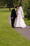 Novia y novio - boda Fotos de archivo libres de regalías