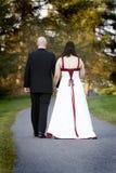 Novia y novio de los pares de la boda imágenes de archivo libres de regalías