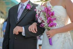Novia y novio del recién casado Fotos de archivo libres de regalías