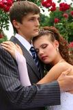 Novia y novio en amor Fotografía de archivo libre de regalías