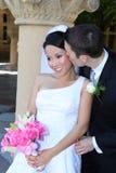 Novia y novio en la boda Fotografía de archivo libre de regalías