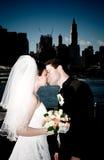 Novia y novio en Nueva York Fotografía de archivo libre de regalías