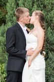 Novia y novio listos para besarse Imágenes de archivo libres de regalías