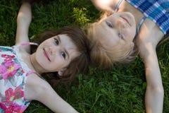 Novias en la hierba Fotografía de archivo libre de regalías