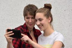 Novias felices Fotos de archivo