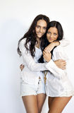 Novias jovenes felices Fotos de archivo libres de regalías