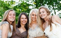 Novias jovenes y atractivas felices foto de archivo