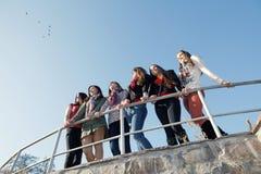 Novias jovenes y atractivas felices foto de archivo libre de regalías