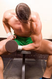 Novice bodybuilder Stock Photography