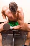 Novice bodybuilder Stock Photography