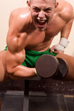 Novice bodybuilder Stock Photo