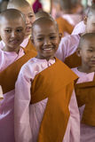 Novice Buddhist Nuns - Myanmar (Burma) Royalty Free Stock Photography