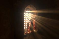 Novice dans la pagoda Bagan Myanmar Photo stock
