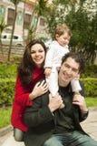 Novice fathers Royalty Free Stock Photos