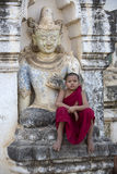 Novice Monk - Bagan - Myanmar (Burma) Stock Photography